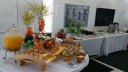 refreshment foods presented by canape catering malaysia for bmw auto bavaria glenmarie